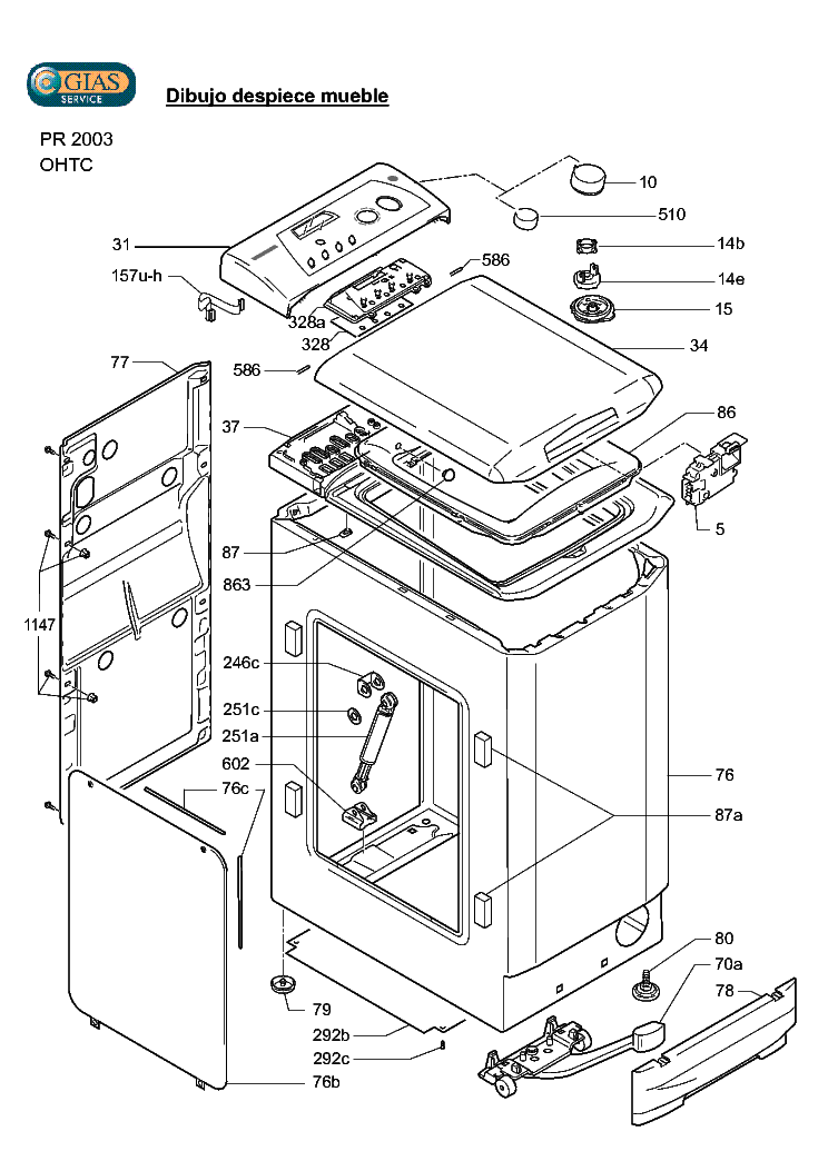 HOOVER HTC13AA-84 Service Manual download, schematics