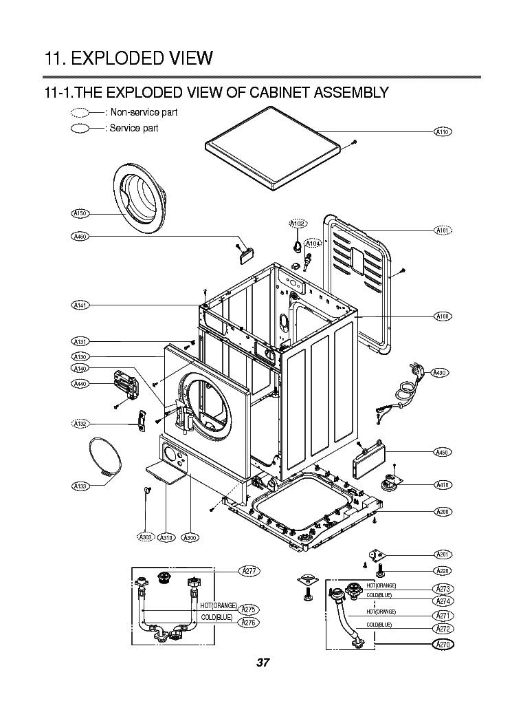 LG WD-8040 WIRING DIAGRAM KRSVM000006476 Service Manual
