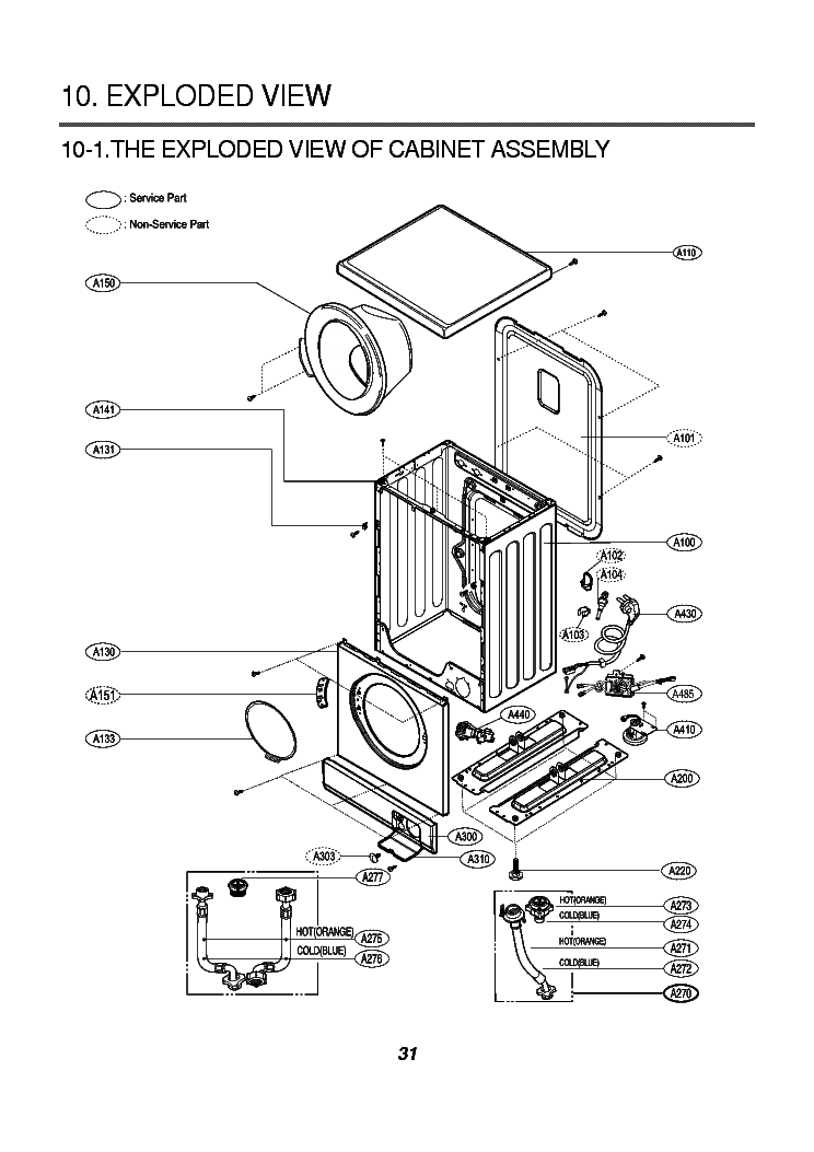 LG WD-1238C EXPLODED VIEW Service Manual download