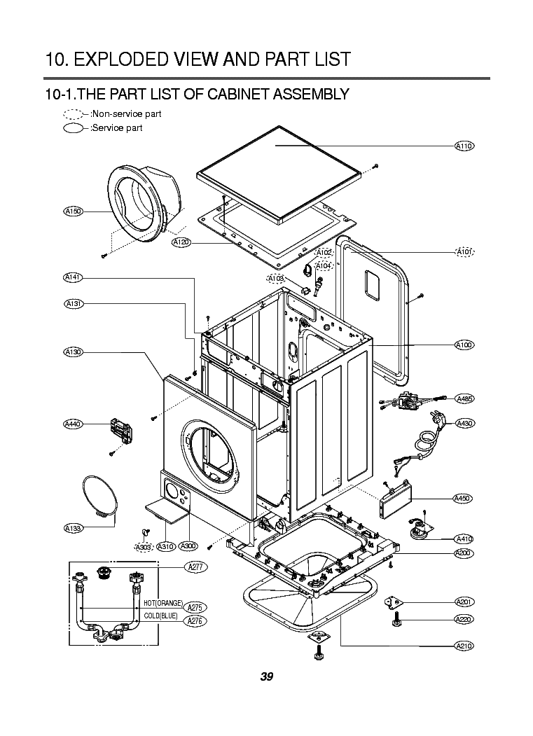 LG WD-1412RD EXPLODED VIEW Service Manual download