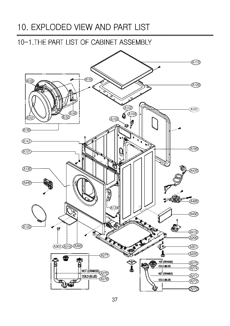 LG WD-1460FHD EXPLODED VIEW Service Manual download