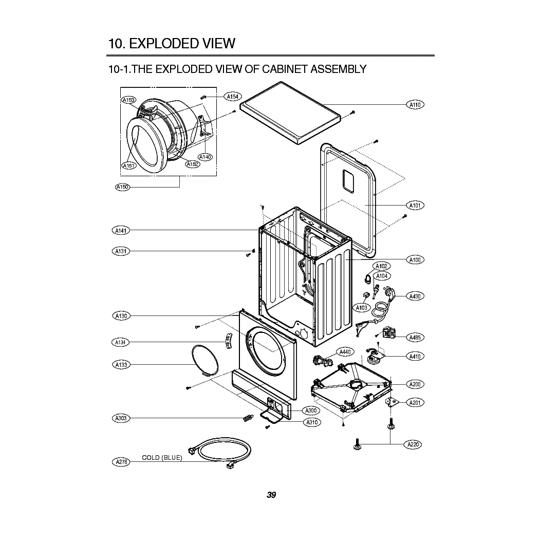 LG WD-16390FDK Service Manual download, schematics, eeprom
