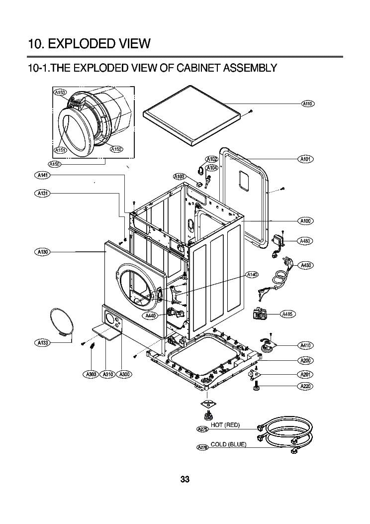 LG WD-8013F EXPLODED VIEW Service Manual free download