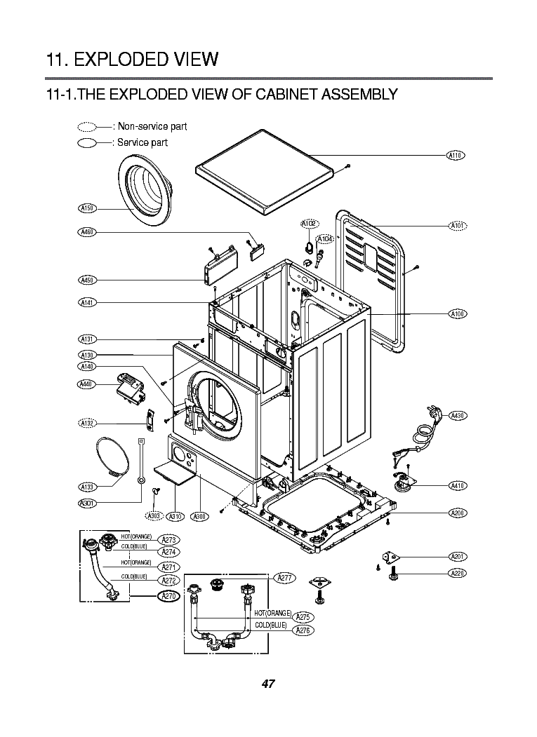 LG WD-8030W EXPLODED VIEW Service Manual download