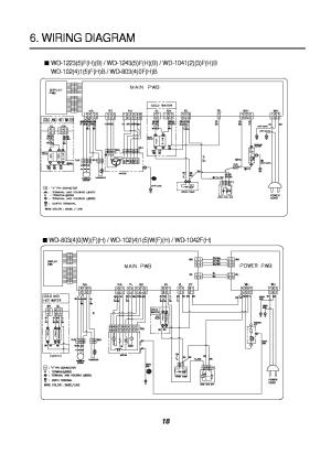 LG WD8040 WIRING DIAGRAM KRSVM000006476 Service Manual