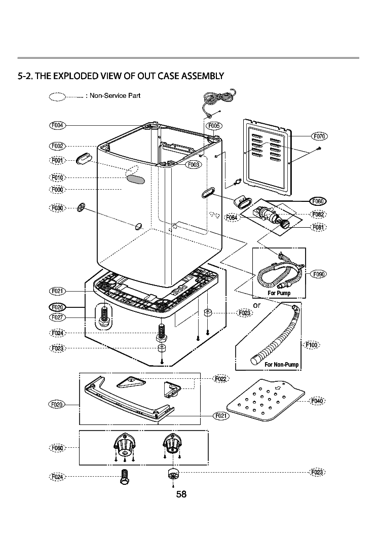 LG WF-T506 EXPLODED VIEW Service Manual download