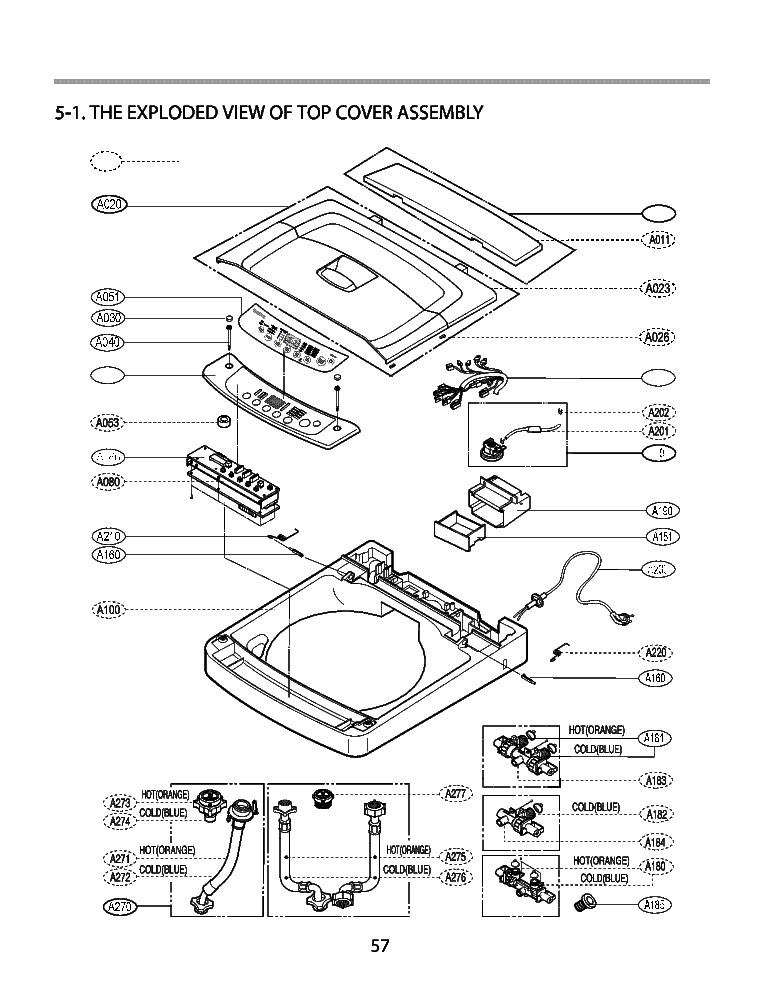 LG WF-T507 EXPLODED VIEW Service Manual download