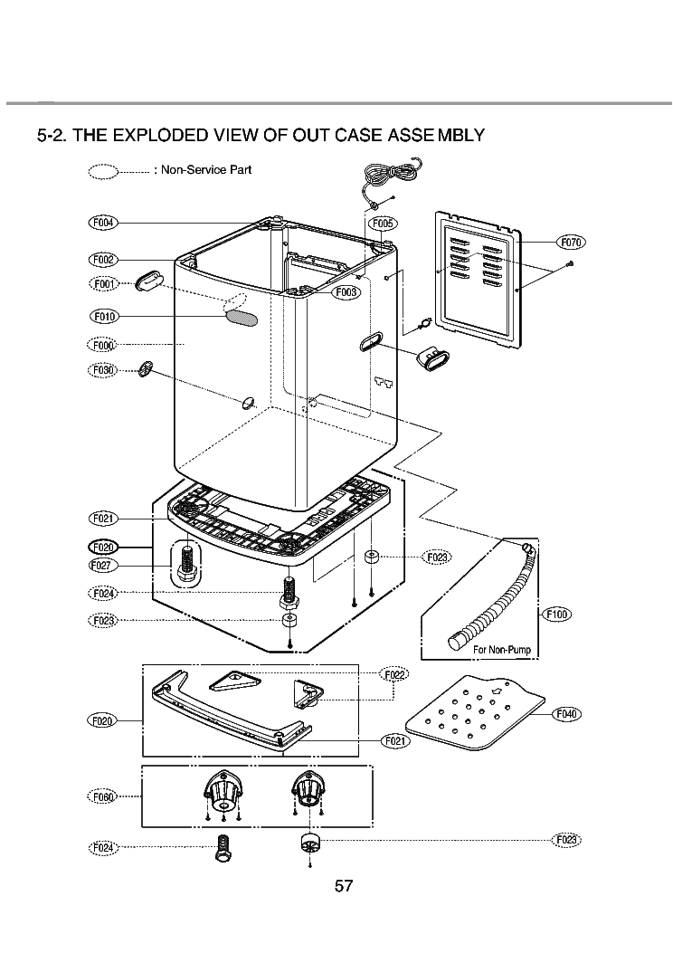 LG WF-T552TH EXPLODED VIEW Service Manual download