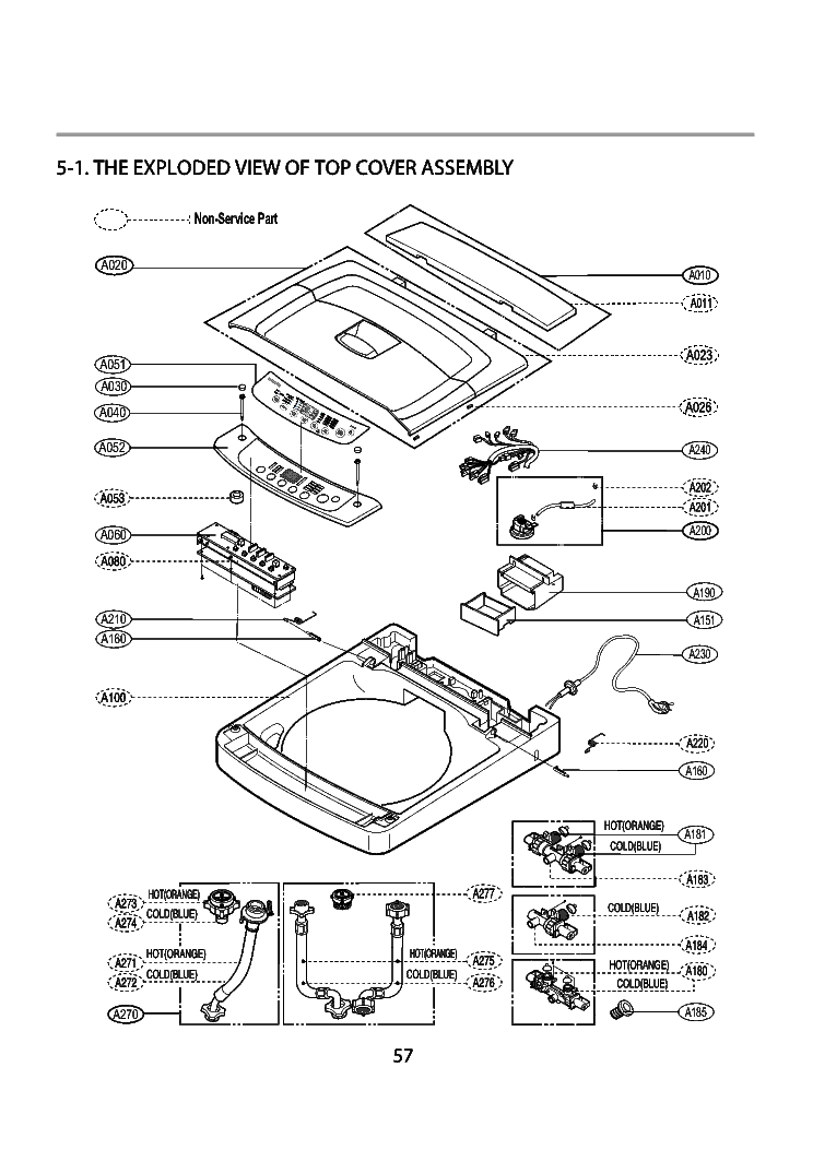 LG WF-T556 EXPLODED VIEW Service Manual download