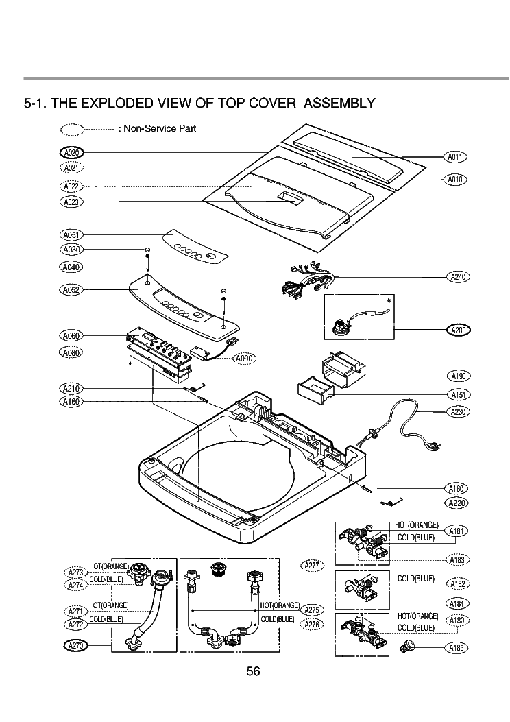 LG WF-T655TH EXPLODED VIEW Service Manual download