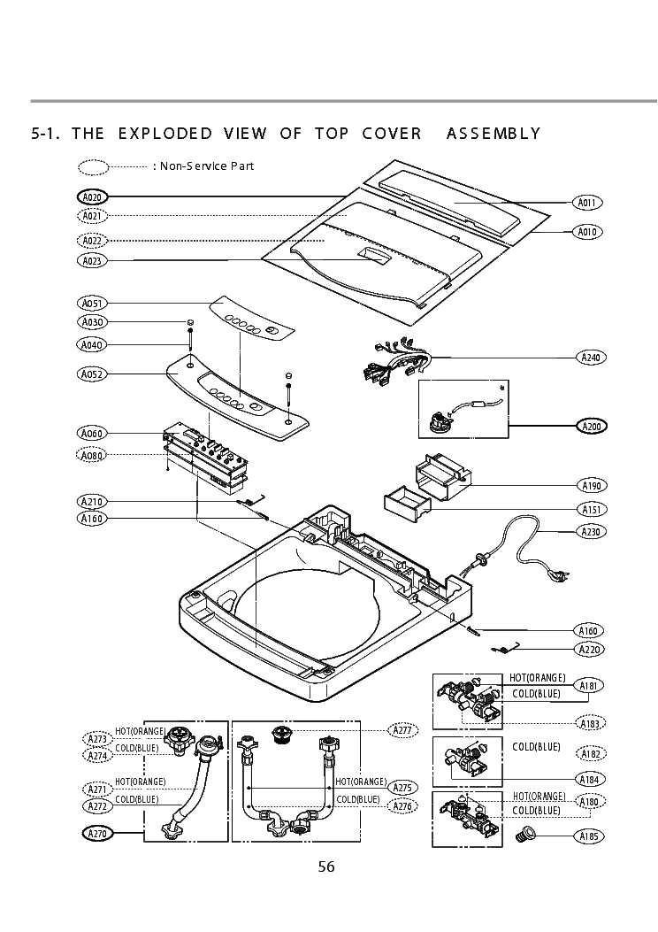 LG WF-T755TH EXPLODED VIEW Service Manual download