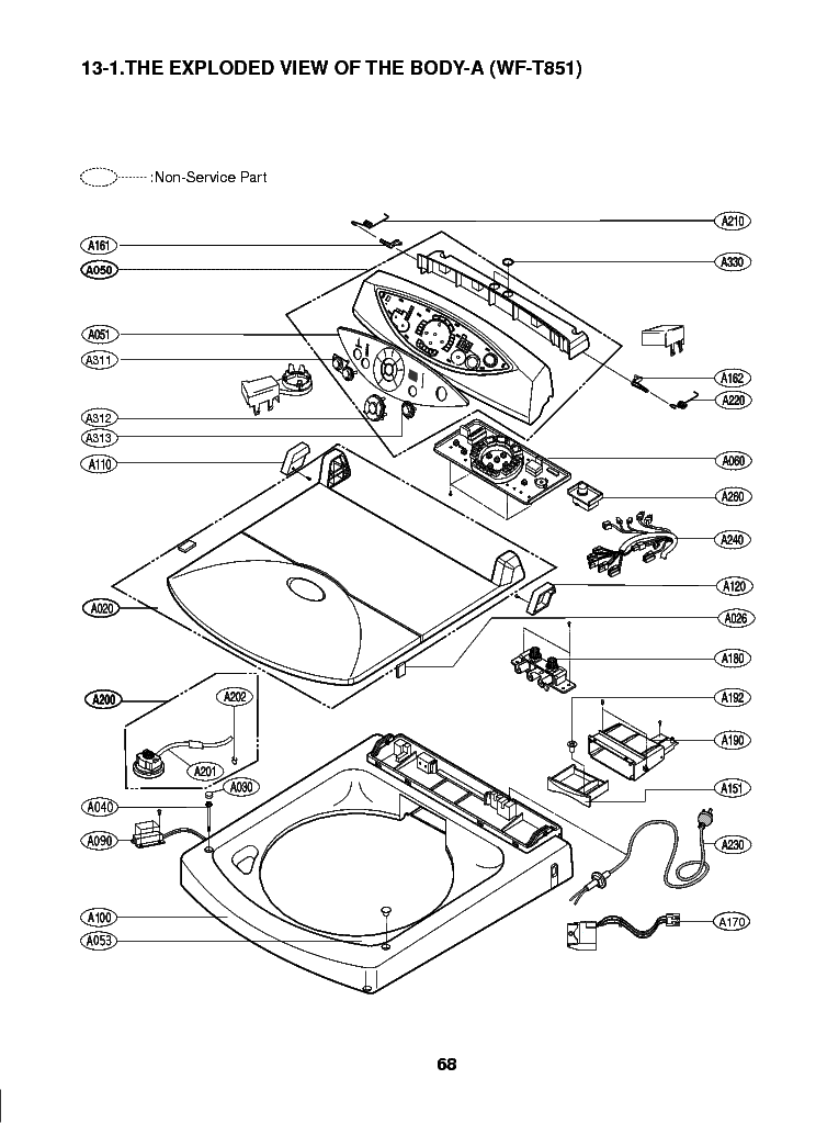 LG WF-T851 EXPLODED VIEW TOP Service Manual download