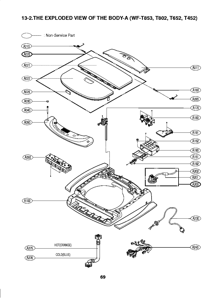 LG WF-T854A EXPLODED VIEW Service Manual download