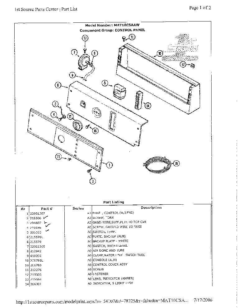MAYTAG MLG2000AWW Service Manual download, schematics