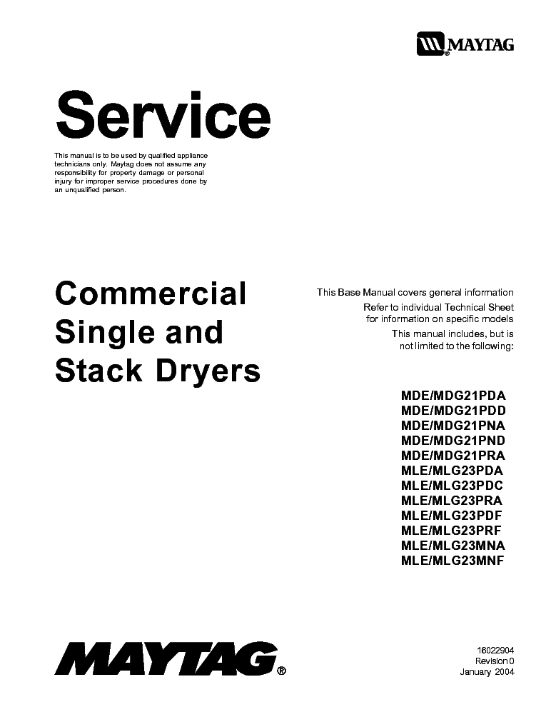 MAYTAG S1000 Service Manual free download, schematics