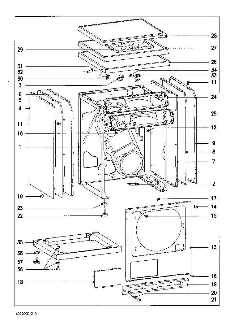 MIELE T4462C DRAYER Service Manual download, schematics