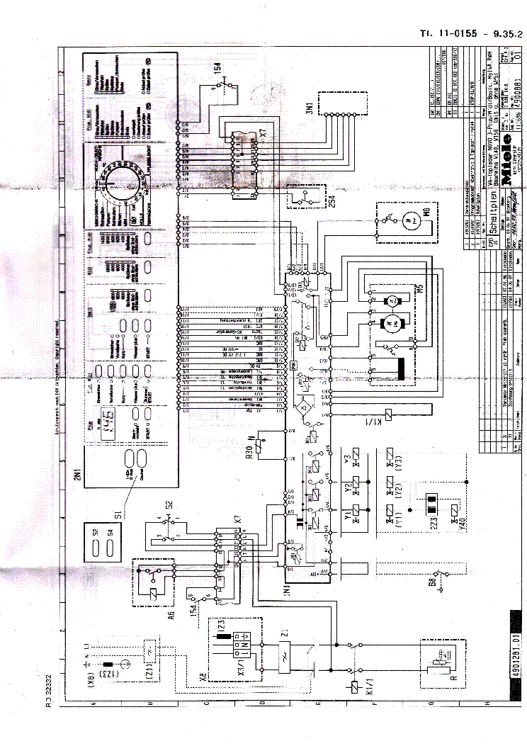 MIELE W149 SCH Service Manual download, schematics, eeprom