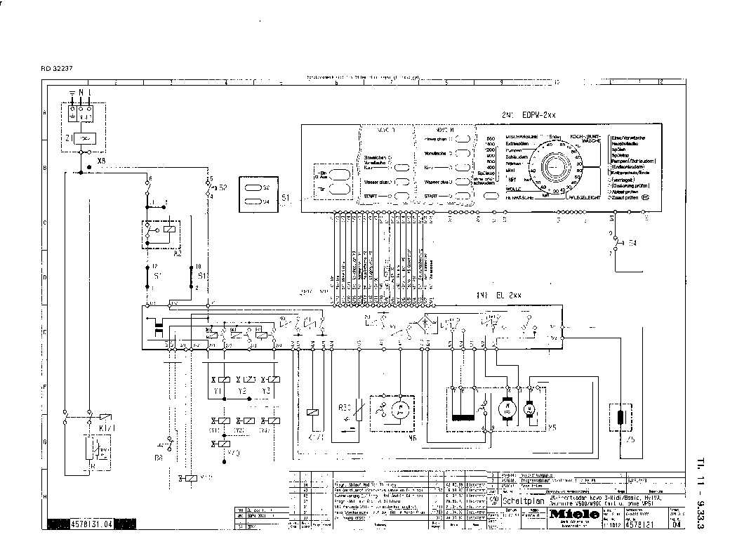 MIELE W800 W900 Service Manual download, schematics