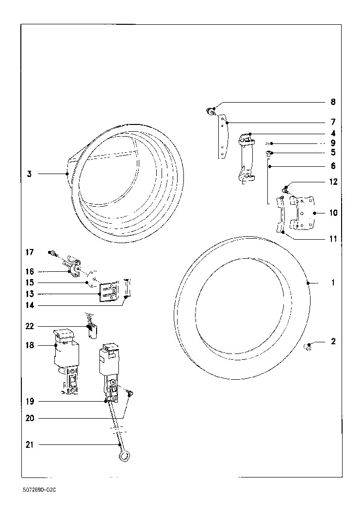 MIELE W842 EXPLODED Service Manual download, schematics