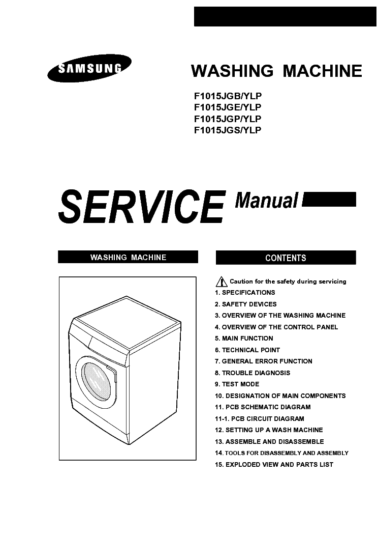 SAMSUNG F1015JGB YLP Service Manual download, schematics