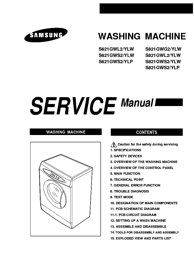 SAMSUNG S621 821 GWL G,S Service Manual download