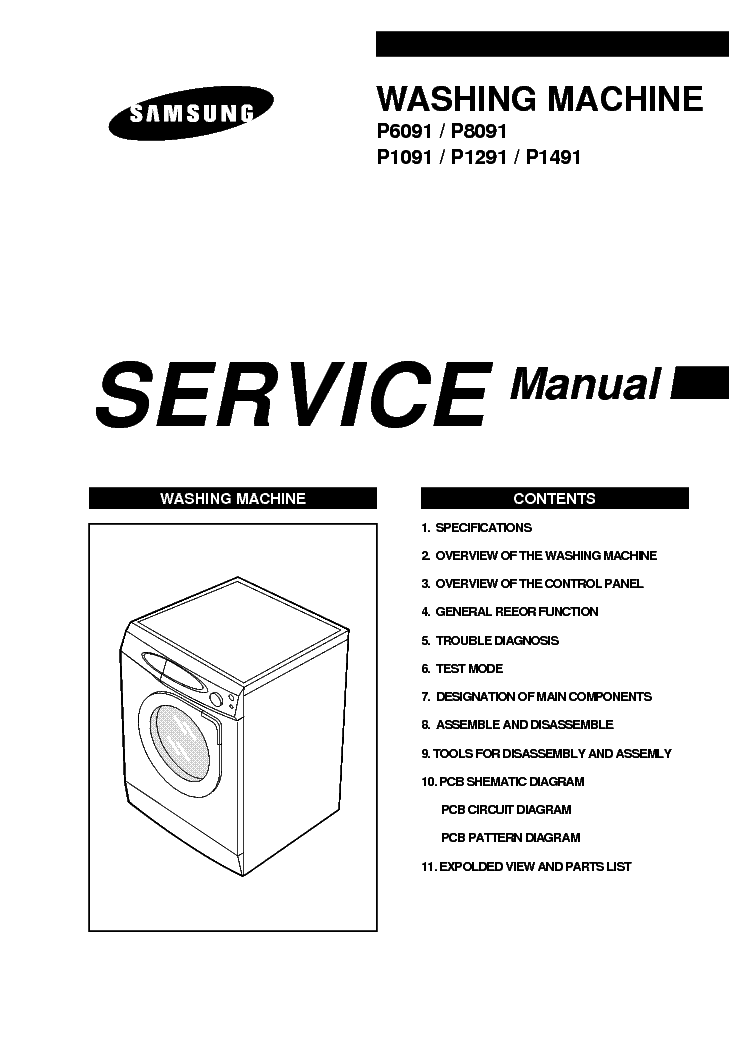 SAMSUNG SWF-P6091 Service Manual download, schematics