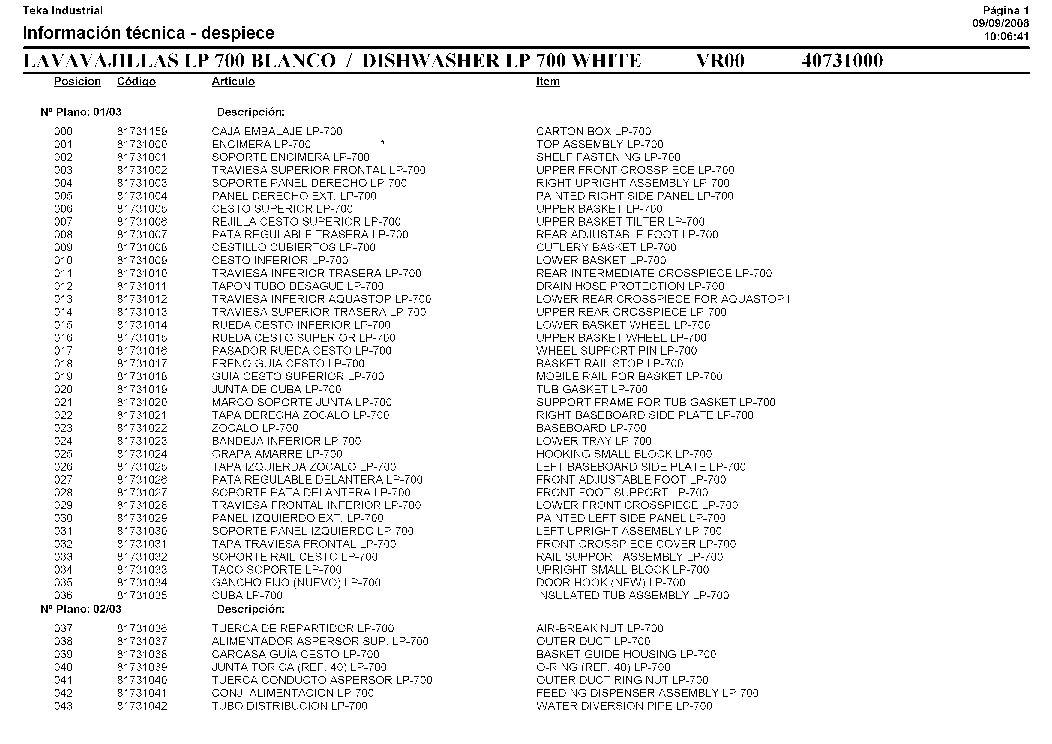 TEKA LP-700 413 Service Manual download, schematics