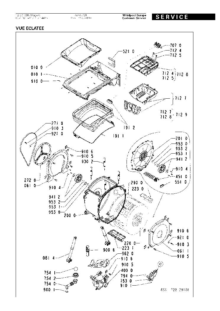 WHIRLPOOL AWA728 Service Manual download, schematics