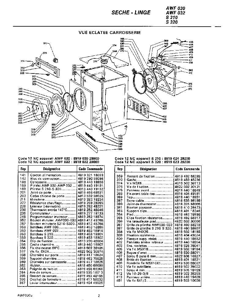 WHIRLPOOL AWF030 Service Manual download, schematics