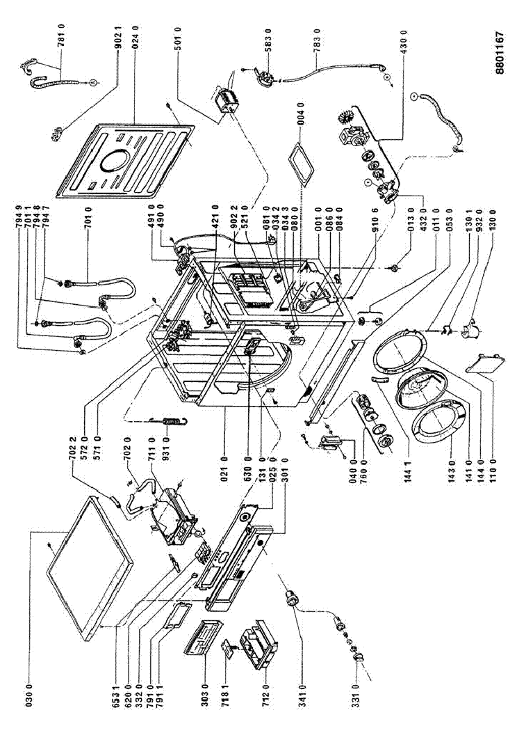 WHIRLPOOL AWG751WP Service Manual download, schematics