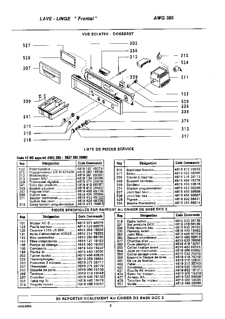 WHIRLPOOL AWG334.3 Service Manual download, schematics