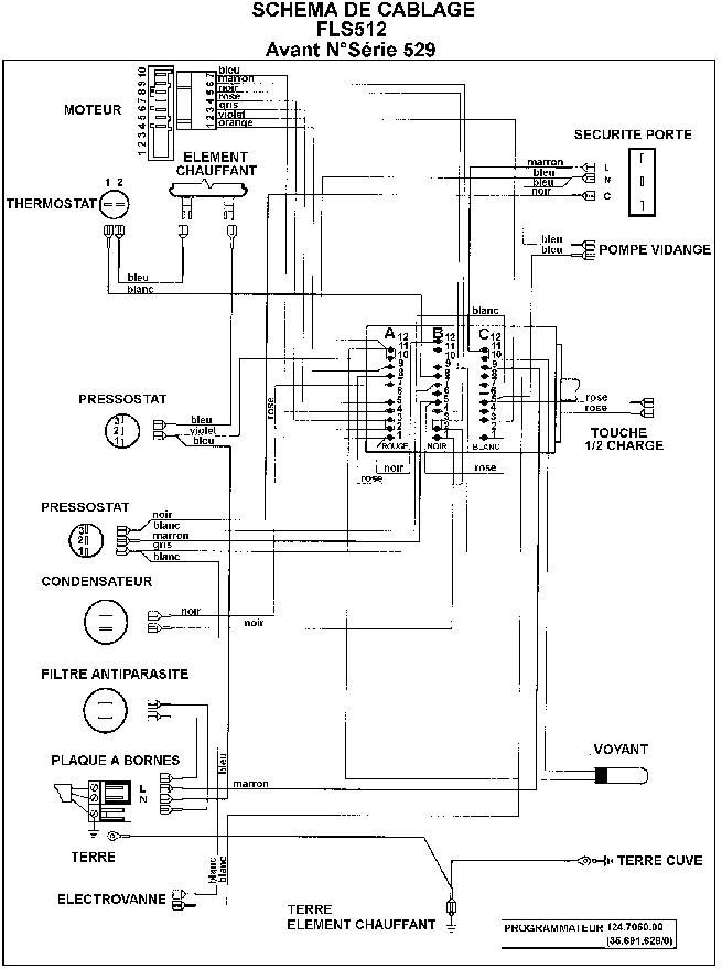 ZANUSSI FLS 512 SCHEMAT Service Manual download
