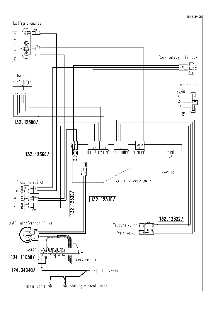 ZANUSSI ZWG3142 SCH Service Manual download, schematics