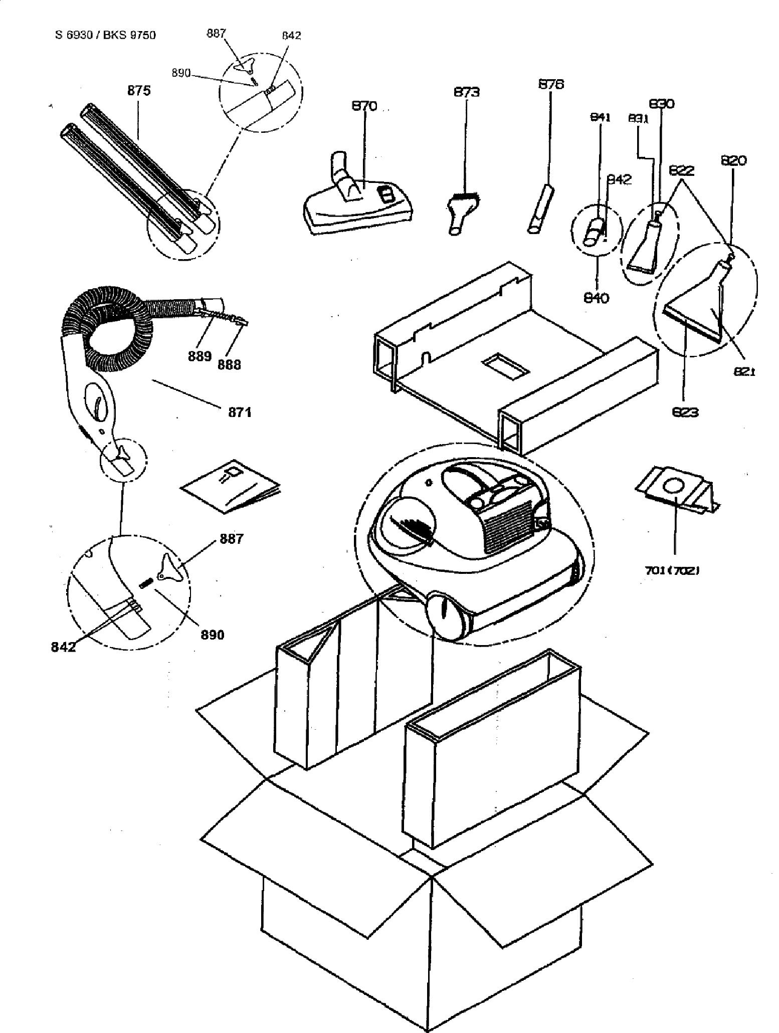 BEKO BKS 9750 S-6203 Service Manual download, schematics