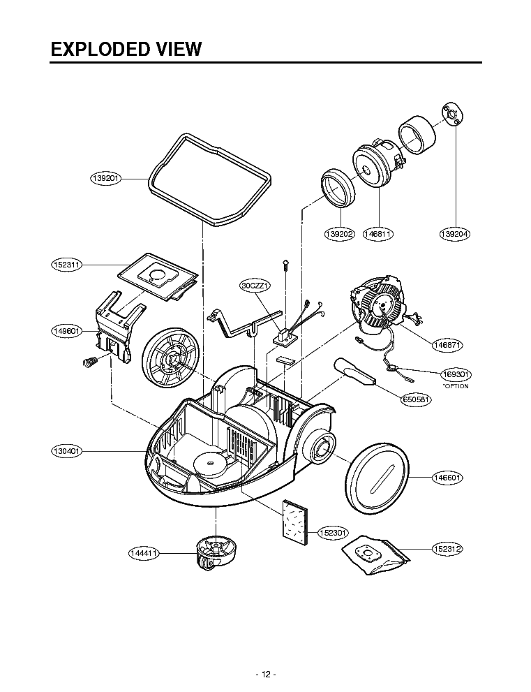 LG V-3900RTV EXPLODED VIEW Service Manual download