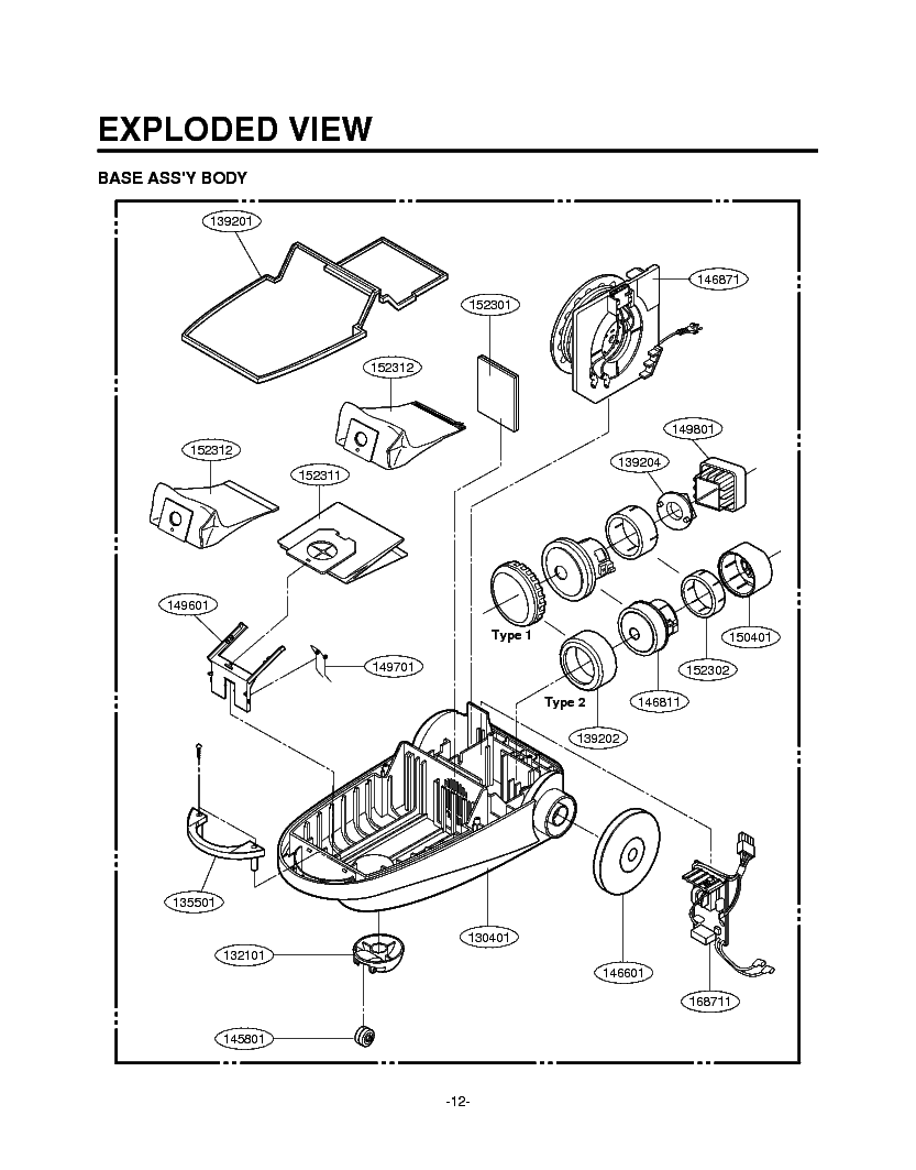 LG WD-1255RD EXPLODED VIEW Service Manual download