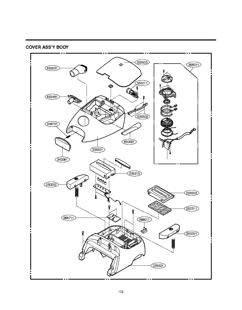 LG V-4060CT EXPLODED VIEW Service Manual download