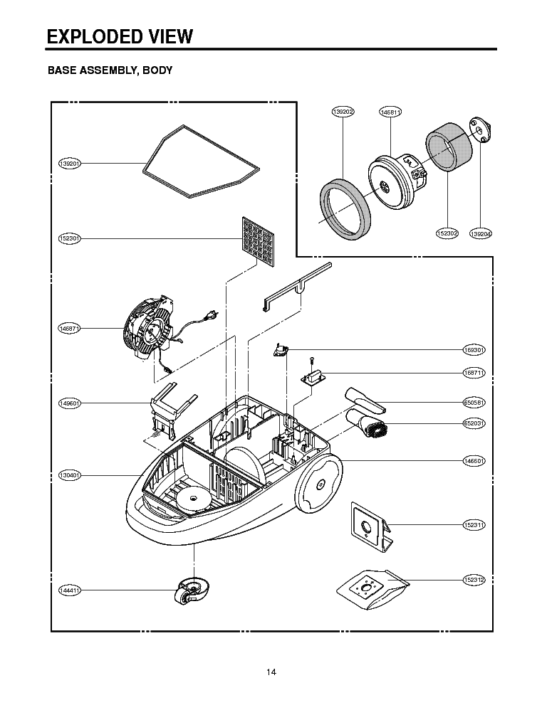 LG V-C3460ND EXPLODED VIEW Service Manual free download