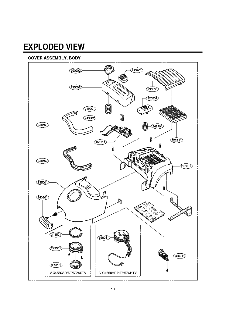 LG V-C4560HTV EXPLODED VIEW Service Manual download