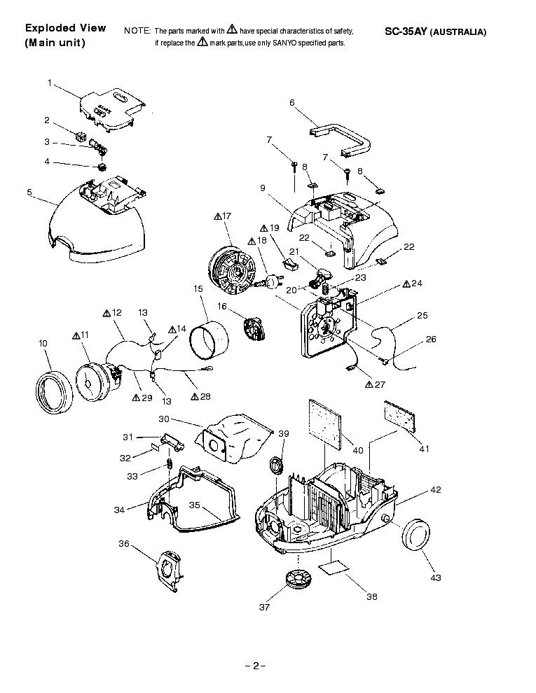SANYO SC-35AY VACUUMCLEANER Service Manual download
