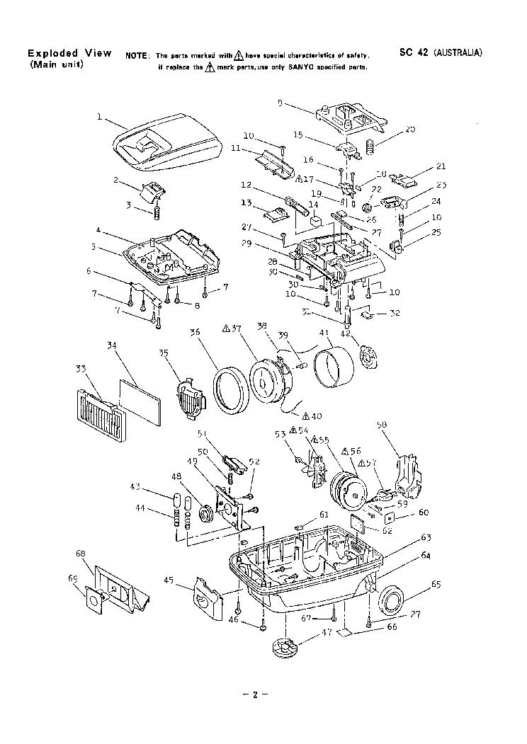 SANYO SC-42 VACUUMCLEANER Service Manual download