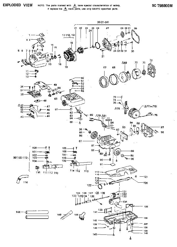 SANYO SC-T9800EM VACUUMCLEANER Service Manual download