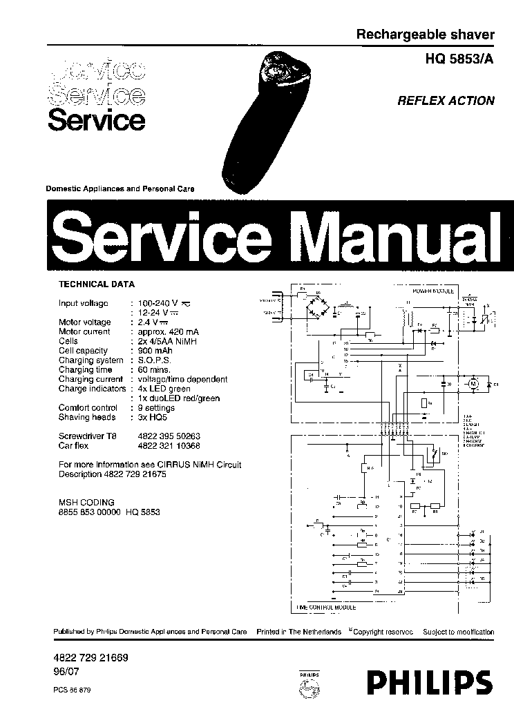 PHILIPS SENSEO-EXCEL HD7840 Service Manual download
