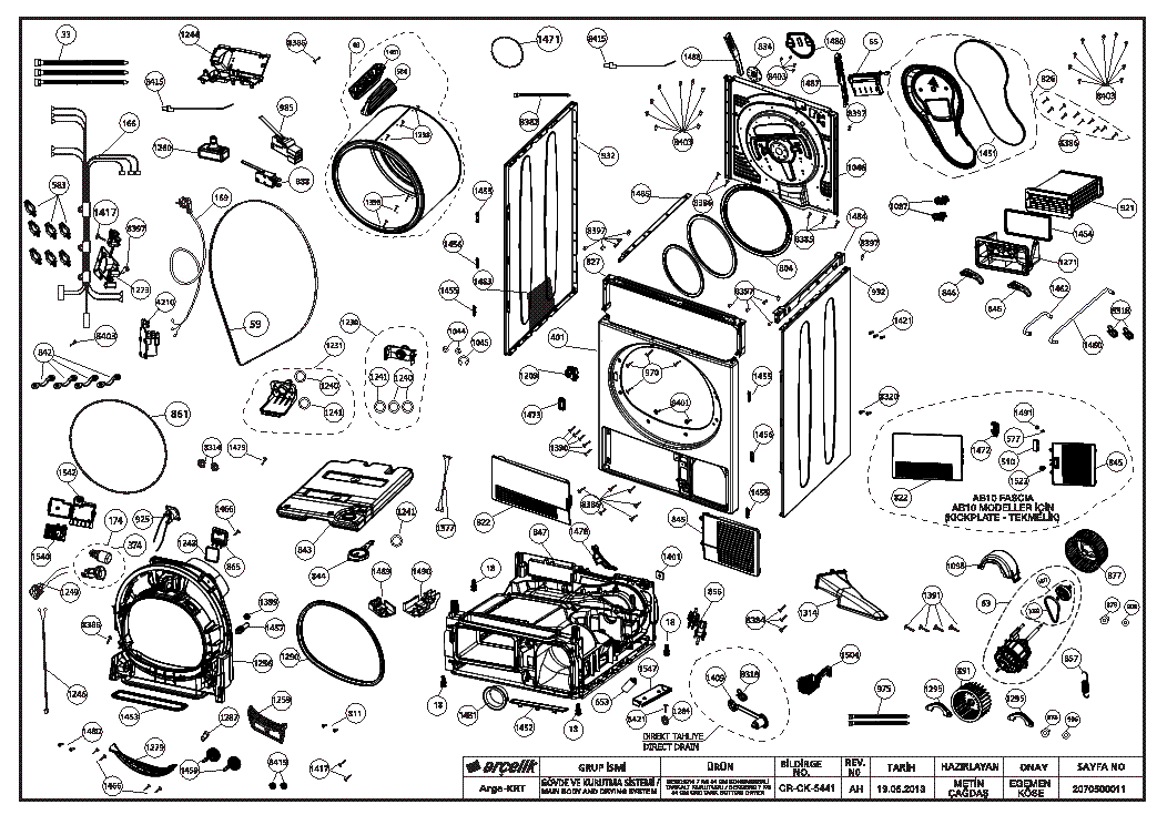 BEKO DC7130 SERVICE INFO Service Manual download