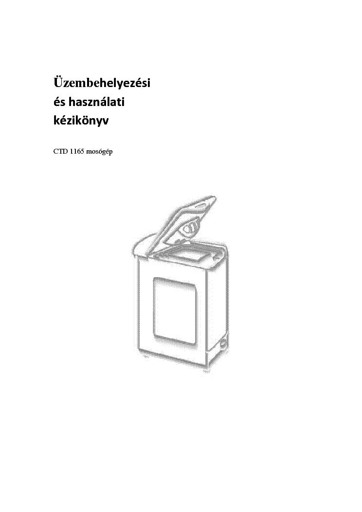 CANDY TRIO 501.1 HU HASZNALATI Service Manual download
