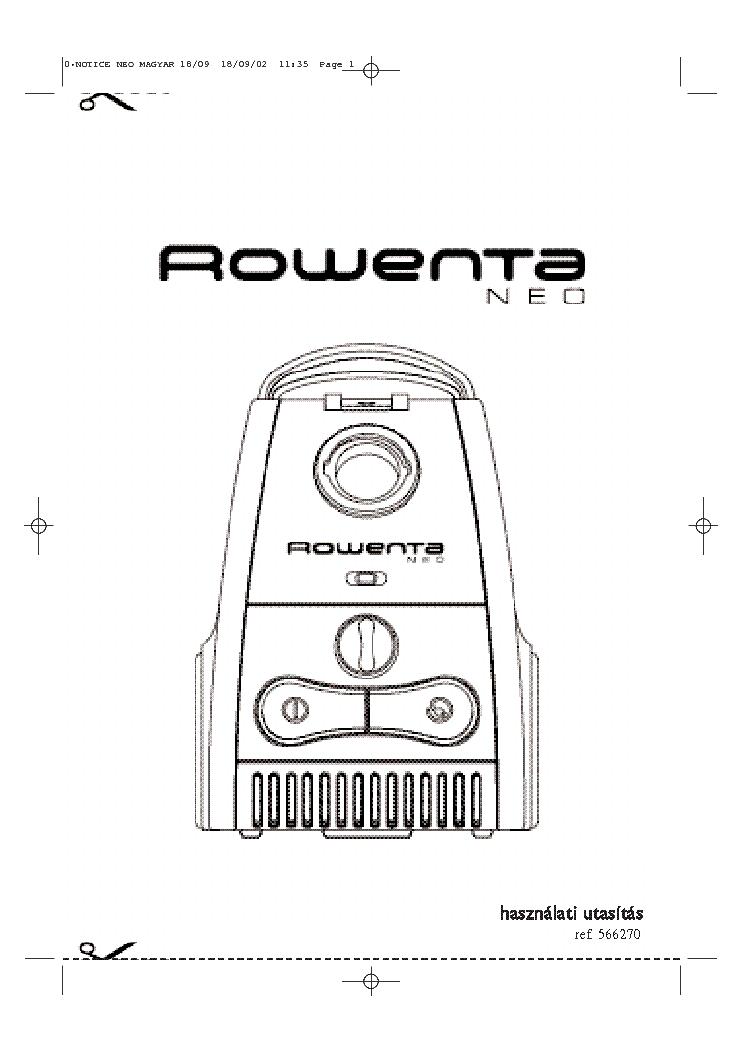 ROWENTA ES-170 USER HUN Service Manual download