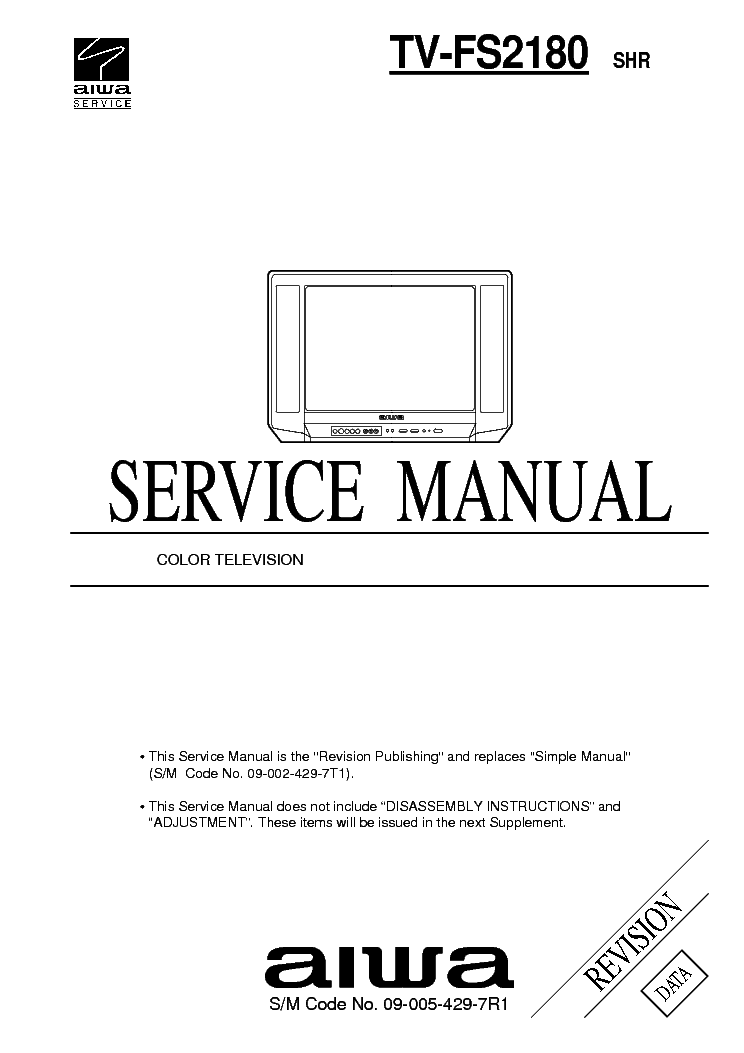 AIWA TV-AS205NH Service Manual download, schematics