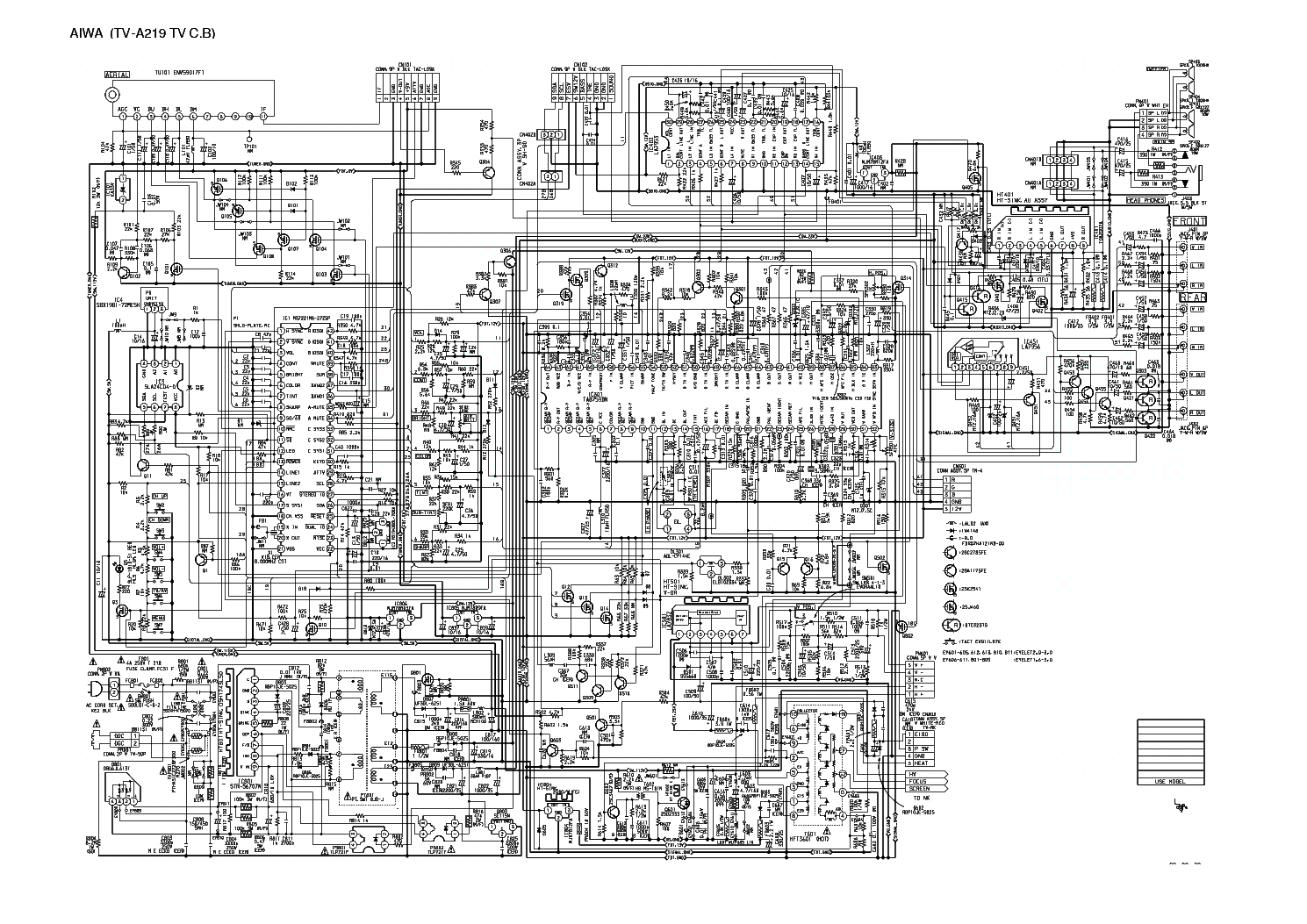 hight resolution of free aiwa tv circuit diagram wiring diagram previewaiwa tv a219 service manual download schematics