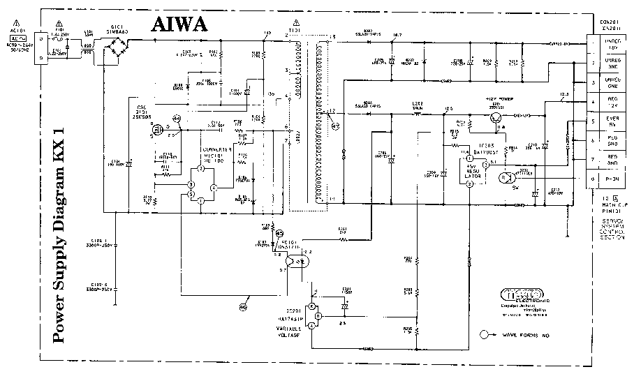 AIWA CHASSIS KX1 POWER SUPPLY Service Manual download