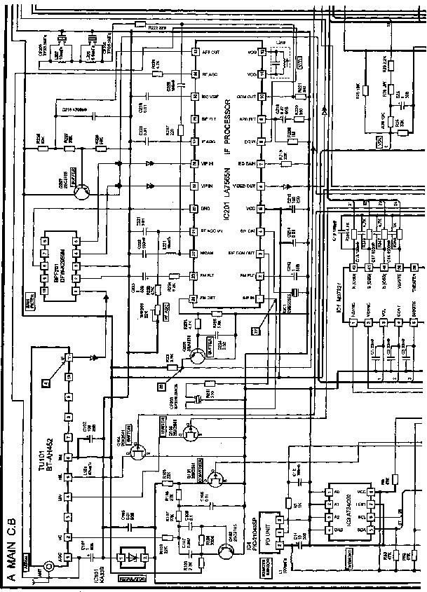 AIWA TV-A205 Service Manual download, schematics, eeprom
